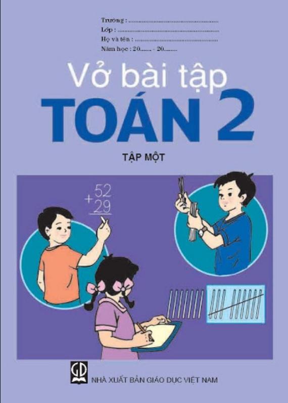Tải sách: Vở bài tập toán lớp 2 tập 1 tập 2