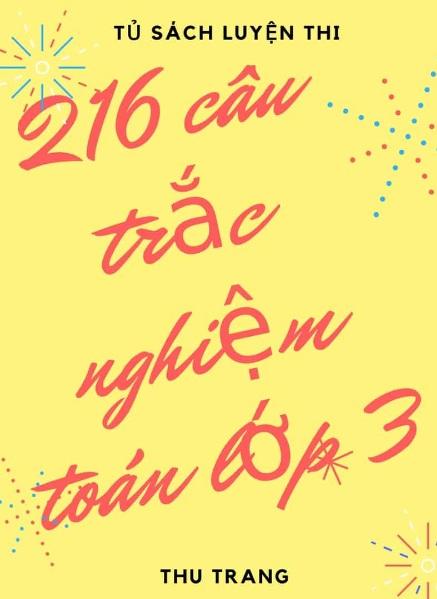 Tải sách: 216 Câu Trắc Nghiệm Toán Lớp 3 – Thu Trang