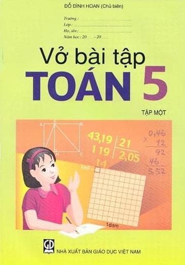 Tải sách: Trọn Bộ Vở Bài Tập Toán Lớp 5 Tập 1 , Tập 2