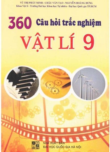Tải sách: 360 Câu Hỏi Trắc Nghiệm Vật Lý 9