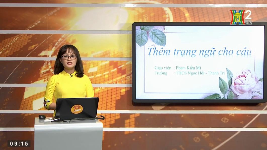 Tải sách: Bài 21 : Thêm Trạng Ngữ Cho Câu (Tiết 1) – Tiếng Việt 7