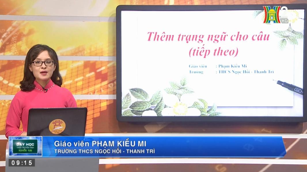 Tải sách: Bài 22 : Thêm Trạng Ngữ Cho Câu (Tiết 2) – Tiếng  Việt 7