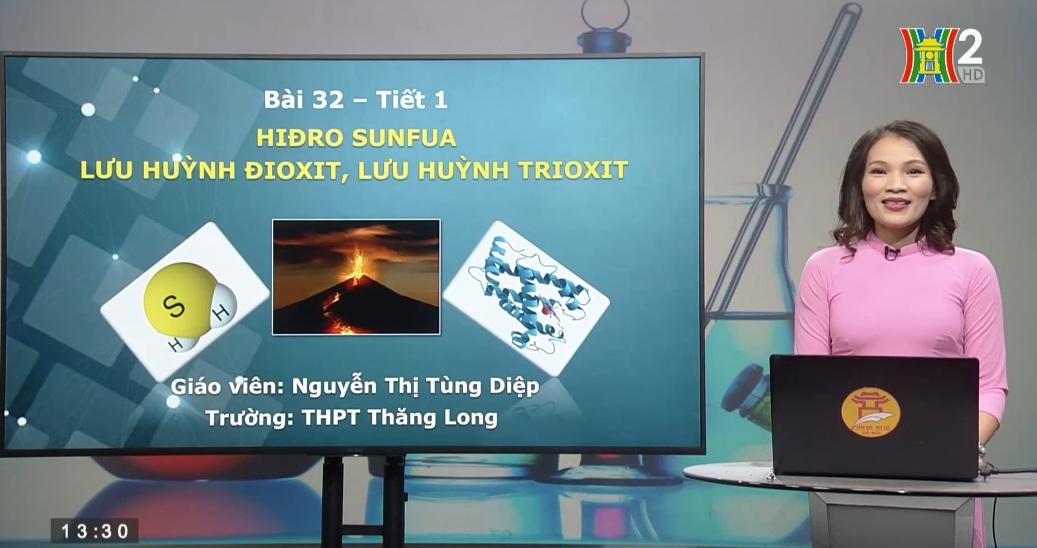 Tải sách: Bài 32 : Hiđro sunfua – Lưu huỳnh đioxit – Lưu huỳnh trioxit – Hóa Học 10