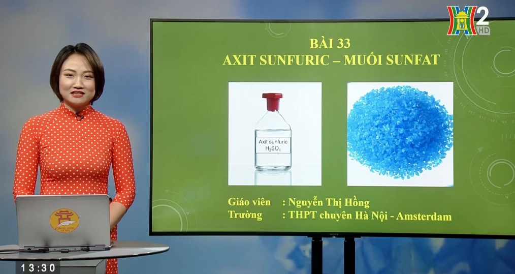 Tải sách: Bài 33 : Axit sunfuric – Muối sunfat (Tiết 1 ) – Hóa Học 10