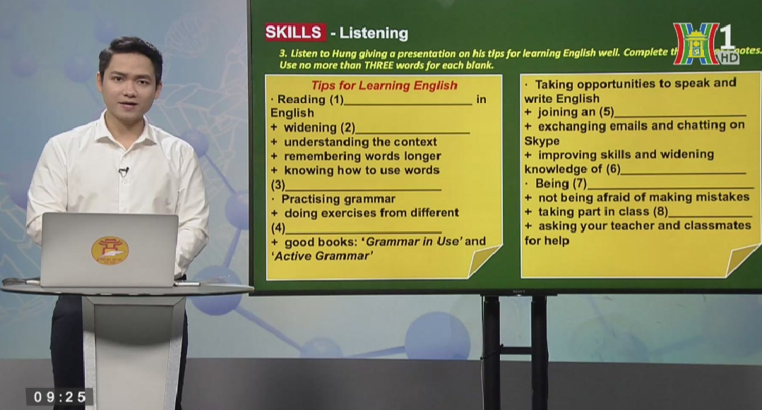 Tải sách: REVIEW UNIT 7-8-9 (Phần 2: Skills Review) – Tiếng Anh 9