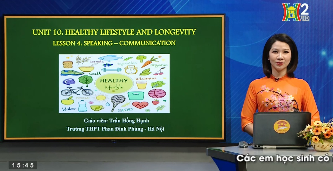 Tải sách: Unit 10: Healthy lifestyle and longevity – Lesson 4: Speaking + Communication – Tiếng Anh 11