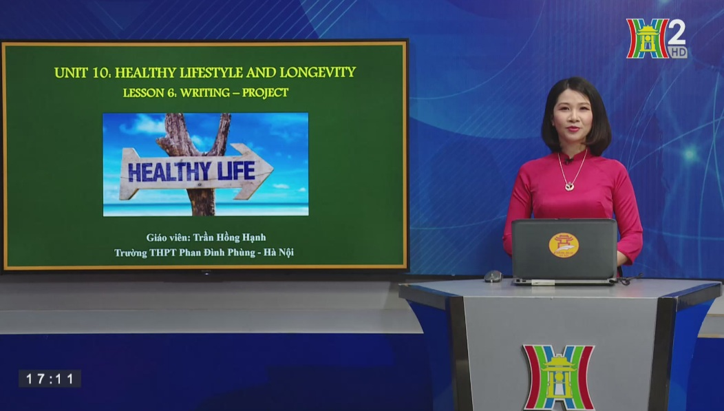 Tải sách: Unit 10: Healthy lifestyle and longevity – Lesson 6: Writing + Project – Tiếng Anh 11