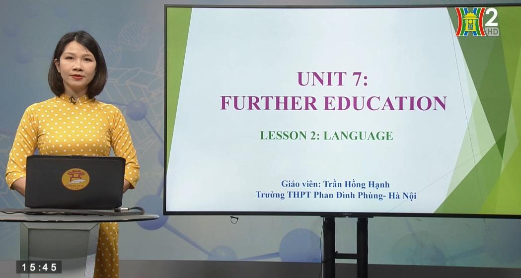 Tải sách: Unit 7 : Further education – Lesson 2: Language – Tiếng Anh 11