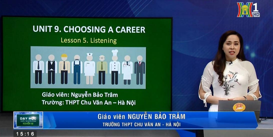 Tải sách: Unit 9 Choosing a Career -Lesson 5: Listening – Tiếng Anh 12