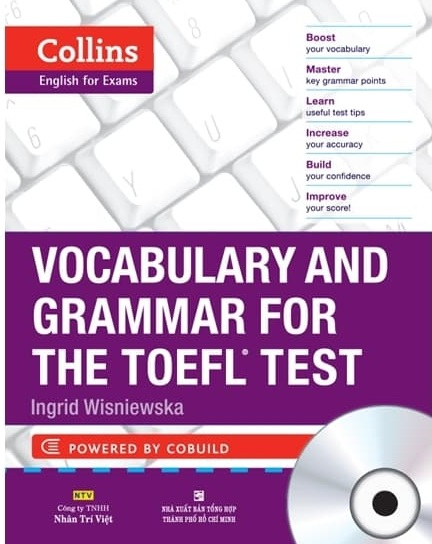 Tải sách: Collins TOEFL Vocabulary & Grammar, Reading & Writing, Listening & Speaking (Bản Đẹp Nhất)